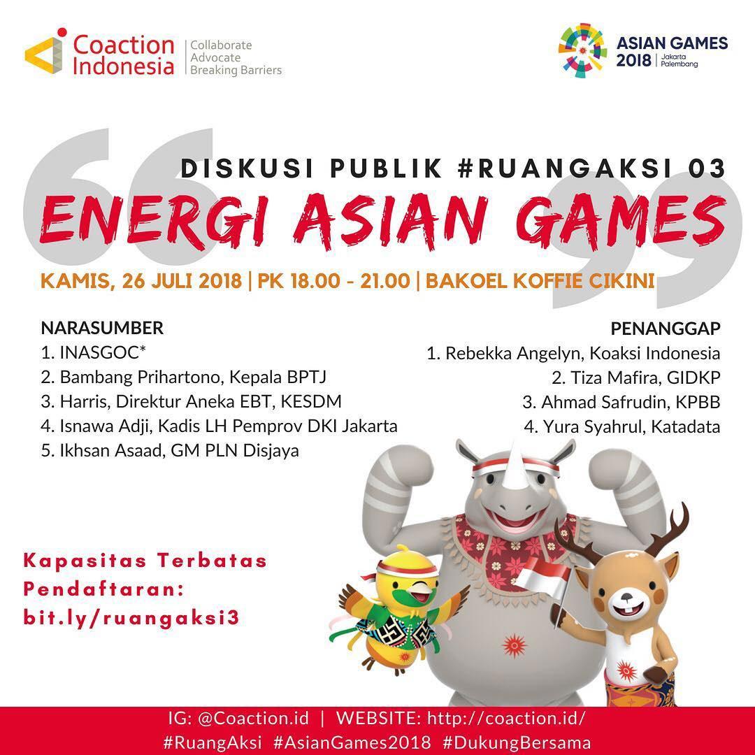 Ruang Aksi Untuk Asian Games Yang Lebih Eco Friendly