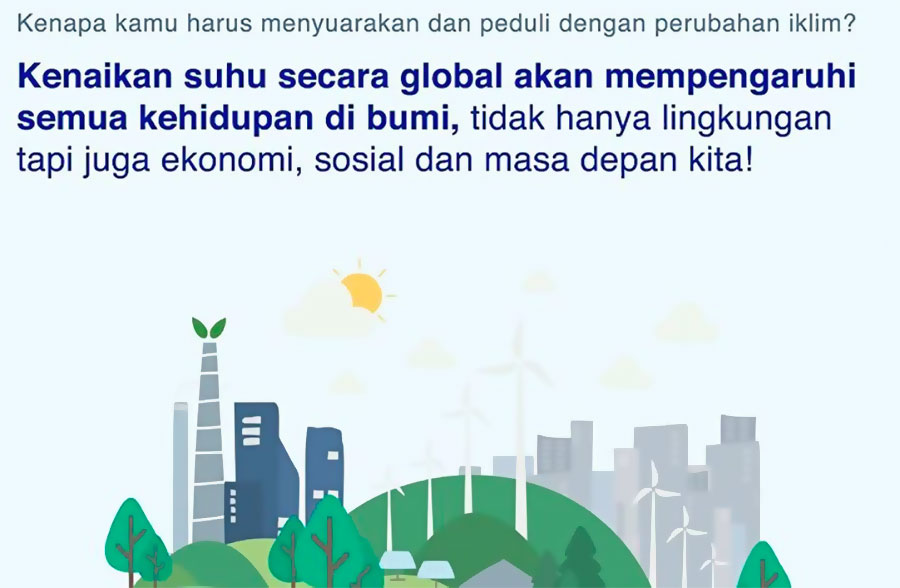 """Workshop """"Green Jobs: Ini Baru Peluang Kerjanya Anak Muda untuk Indonesia yang Lebih Bersih"""". Foto: Instagram coaction.id"""